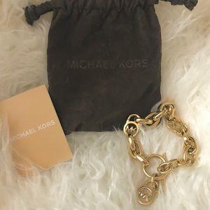 Michael Kors Gold Toggle Bracelet